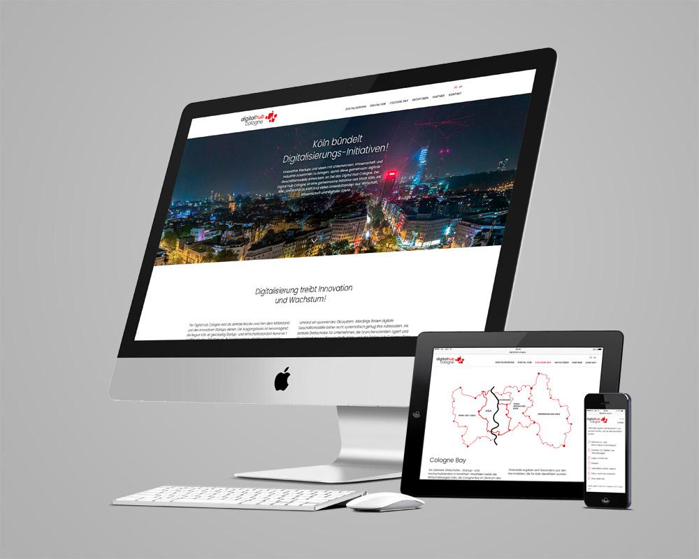 Digital Hub Cologne Webseite
