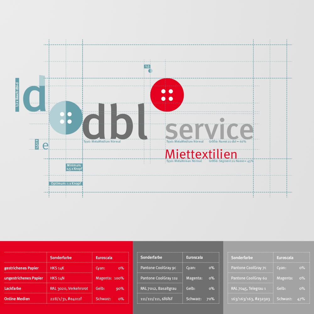 DBL Service Miettextilien Logokonzeption