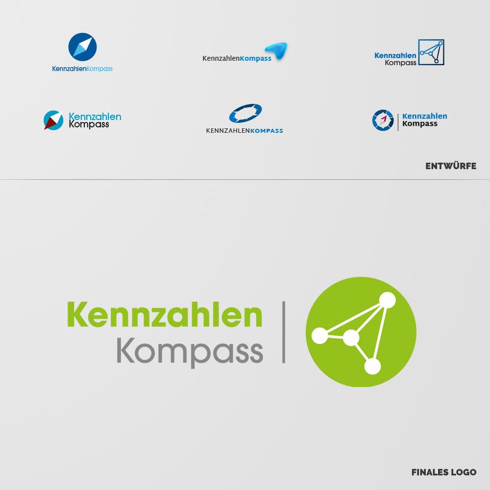 Kennzahlen Kompass Logokonzeption und Entwicklung