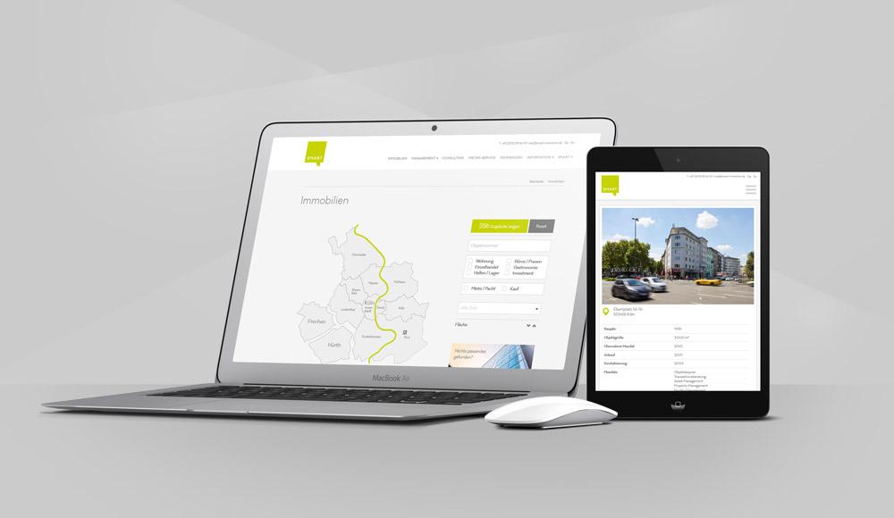 SMART Immobilien Webseite